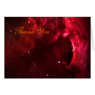 Thank You - Sculpted Region of the Orion Nebula Card