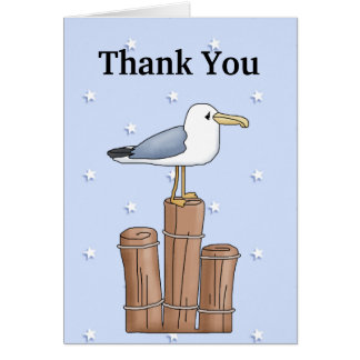 Thank You Seagull greeting card