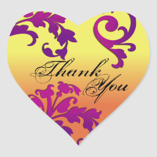 Thank You Seal - Destination Floral Swirl Wedding Sticker