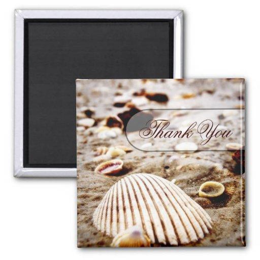 Thank You Seashells Beach Magnet