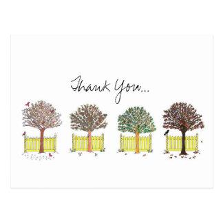 Thank You, Seasons Postcard