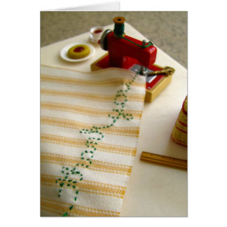 Thank You Sewing Machine Greeting Card