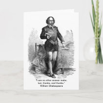 Thank You, Shakespeare style! Thank You Card