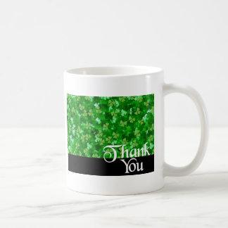 Thank You Shamrock Coffee Mug