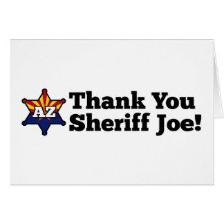 Thank You Sheriff Joe! Card