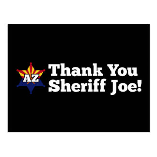 Thank You Sheriff Joe! Postcard