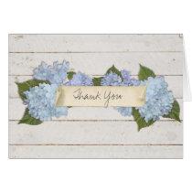 Thank You Shiplap Wooden Wood Board Blue Hydrangea