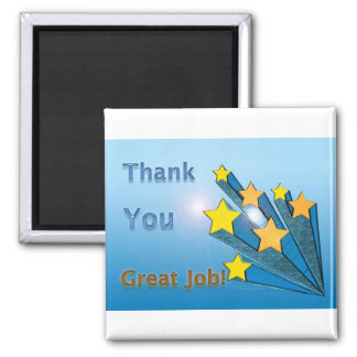 Thank You Shooting Stars 2 Inch Square Magnet