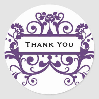 Thank You / Short Msg Label - MICHELLE Collection Classic Round Sticker