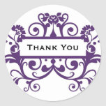 Thank You / Short Msg Label - MICHELLE Collection Round Sticker