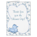 Thank You Shower Blue Duck Greeting Card