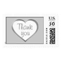 Thank you - silver anniversary heart postage