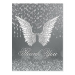 Thank You | Silver Tears Postcard at Zazzle