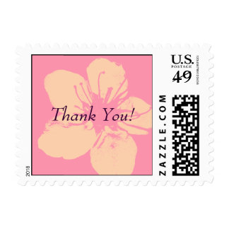 Thank You - Simple Apple Blossom Postage