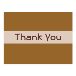 Thank You simple brown Postcard