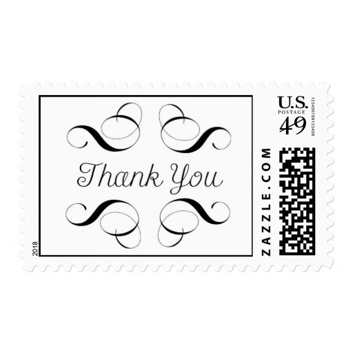 Thank You - Simple Message on Stamp