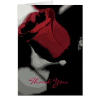 Thank You - Single Rose (Abstract) Stationery Note Card