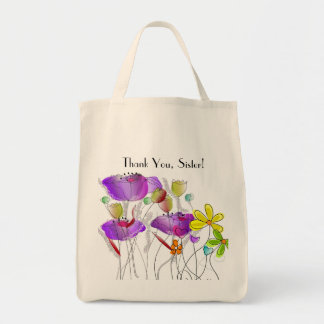 Thank You Sister Floral Nun Tote Bag