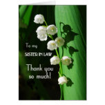 Thank You, Sister-in-Law, Lily of the Valley Greeting Cards