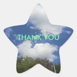 Thank You Sky Cloud Scene Star Stickers