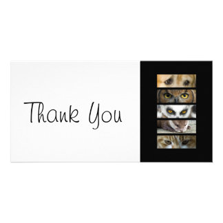 Thank You slim Card - Animals Eyes