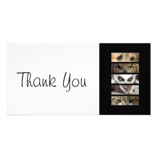 Thank You slim Card - Animals Eyes Custom Photo Card