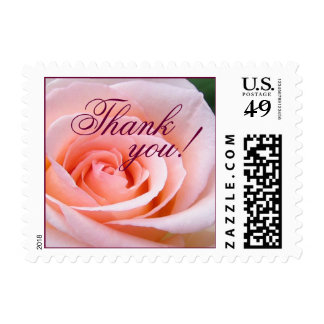 Thank You Small Rose Stamp