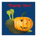 Thank You! Snail Pumpkin - Thankyou Custom Invitation