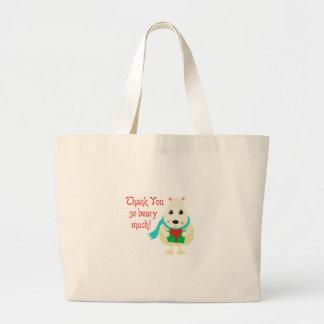 Thank You So Beary Much! Jumbo Tote Bag