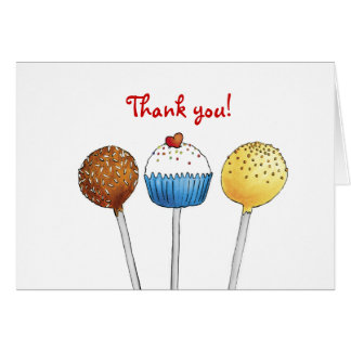 Thank you so much - Cake Pop - Greeting Card