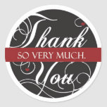Thank you so very much round stickers