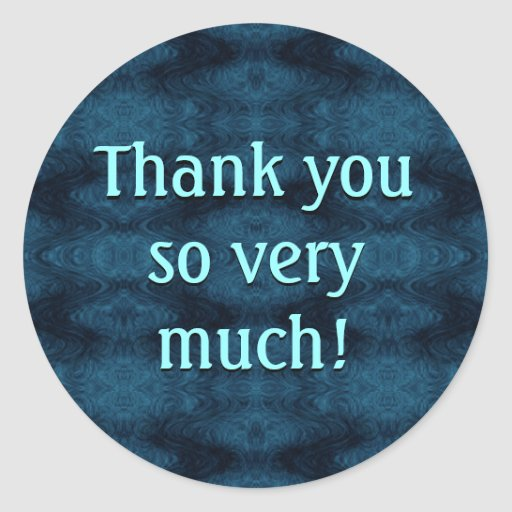 Thank you so very much classic round sticker zazzle