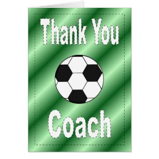 Thank You Soccer Coach Card