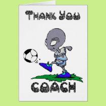 Thank you Soccer Coach, Football Coach Card