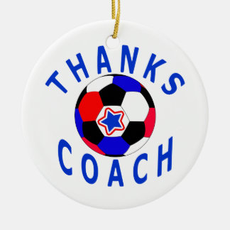 Thank You Soccer Coach Gift Round Ornament