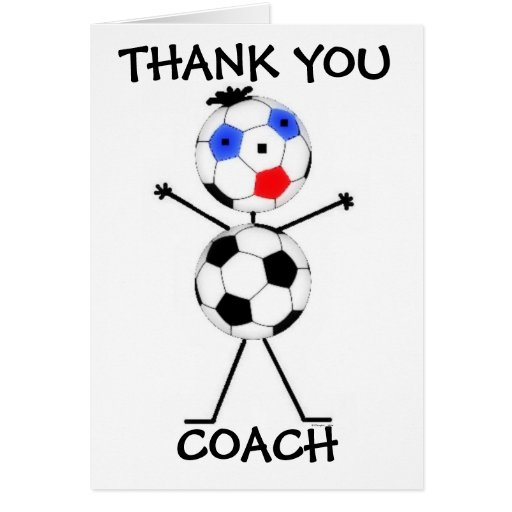 thank you soccer coach greeting cards zazzle