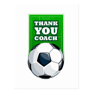 thank you soccer coach postcard