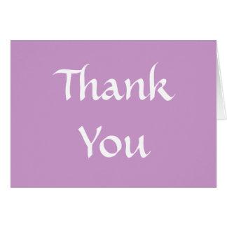 Thank You. Soft Dusky Purple and White. Card