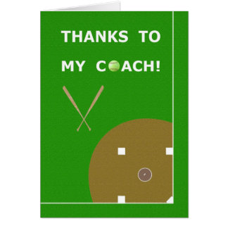 Thank You Softball Coach Greeting Cards & Gifts