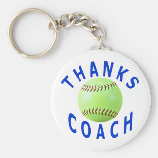 Thank You Softball Coach Greeting Cards & Gifts Keychains