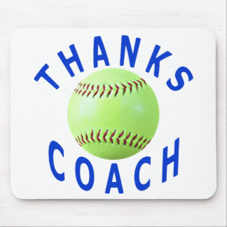 Thank You Softball Coach Greeting Cards & Gifts Mouse Pad