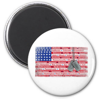Thank You Soldier Dog Tags 2 Inch Round Magnet