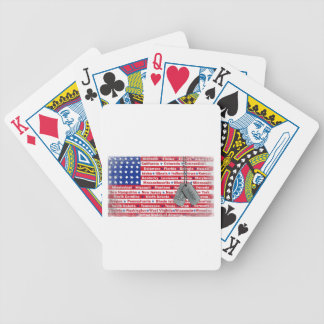 Thank You Soldier Dog Tags Bicycle Playing Cards