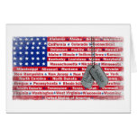 Thank You Soldier Dog Tags Greeting Card