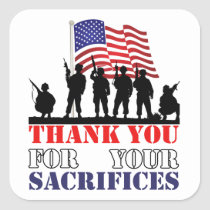Thank You Soldiers Veterans Day Stickers