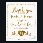 "thank you special day wedding sign gold<br><div class=""desc"">wedding sign</div>"