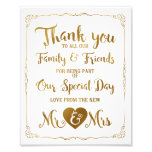 thank you special day wedding sign gold photo print