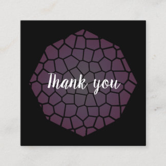 Thank you! square business card