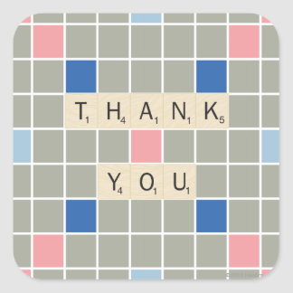 Thank You Square Sticker