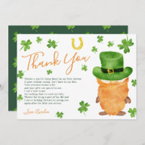 Thank you St Patrick clover watercolor baby shower